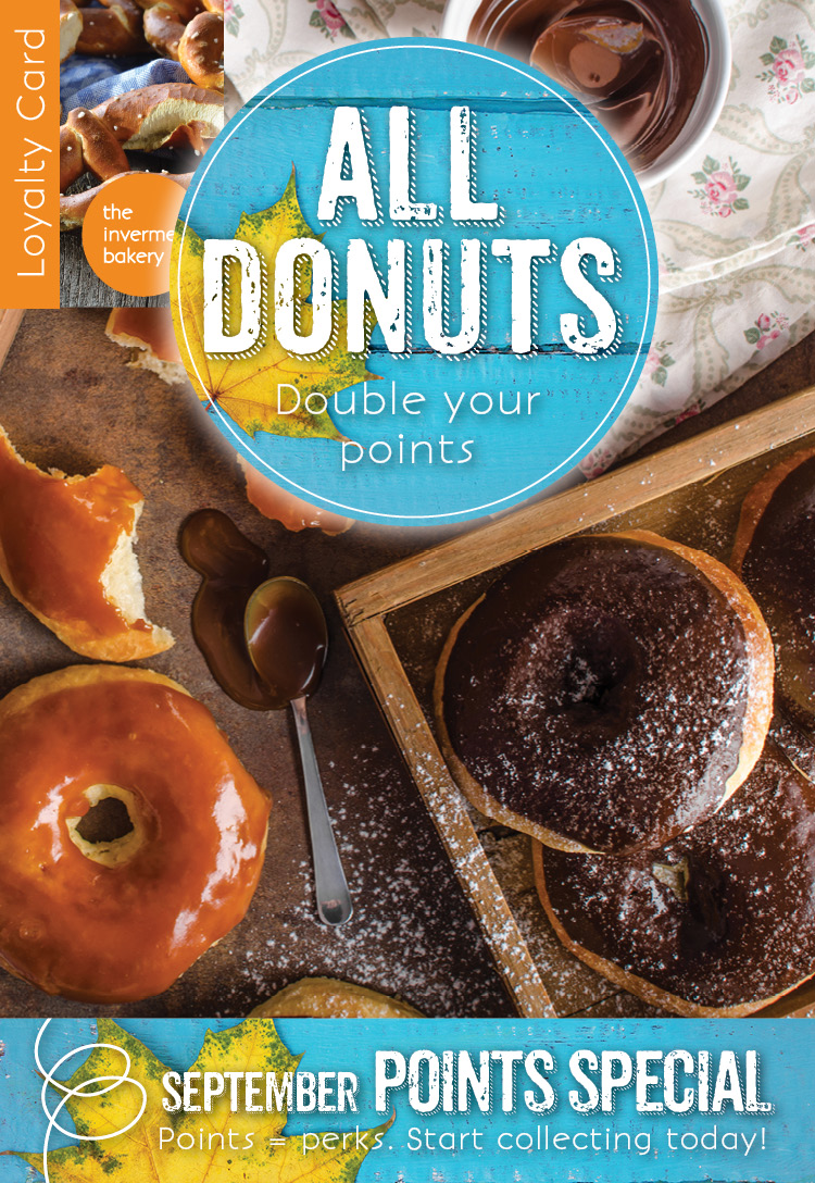 All donuts double your points this September