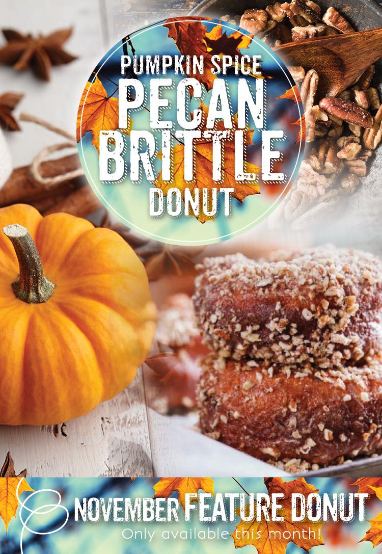 Pumpkin Spice Pecan Brittle Donut