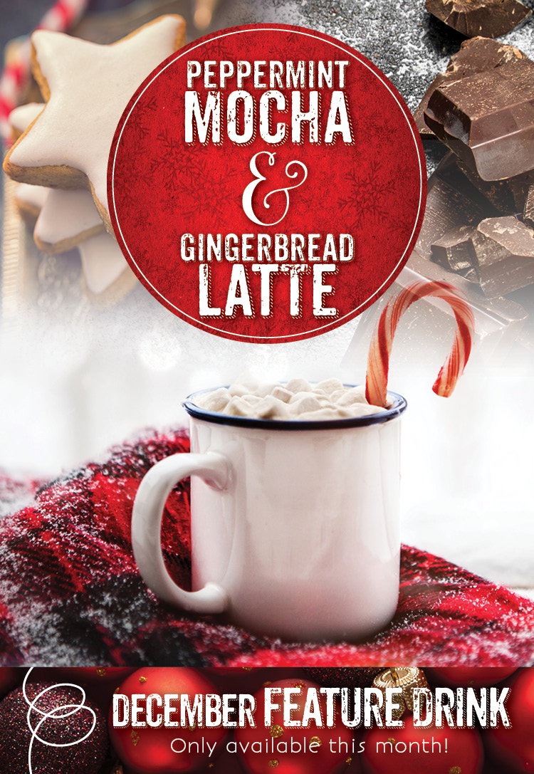 Peppermint Mocha & Gingerbread Latte