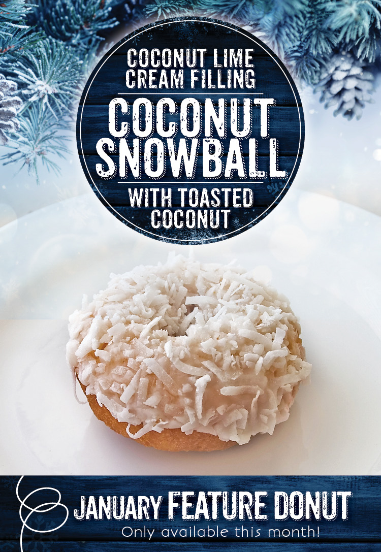 Coconut Snowball Donut at the Invermere Bakery