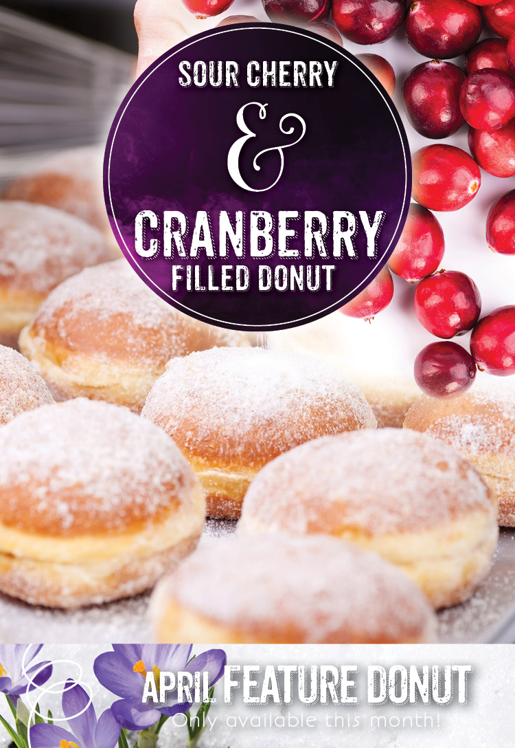 Sour Cherry & Cranberry Filled Donut at the Invermere Bakery
