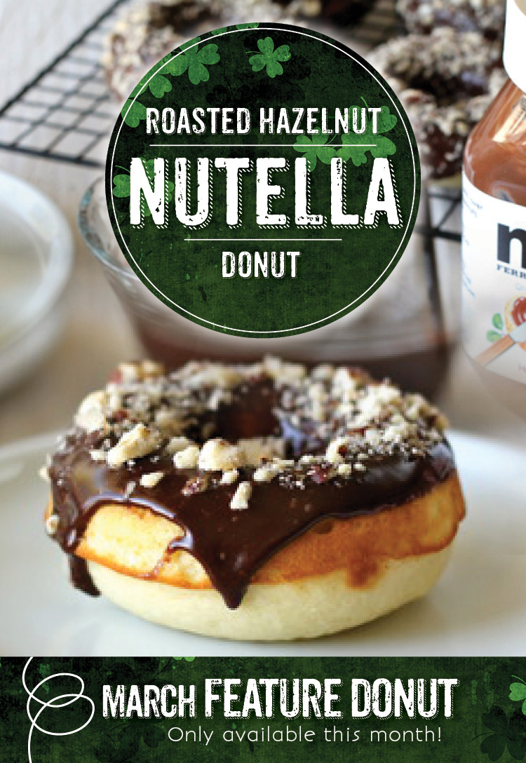 Roasted Hazelnut Nutella Donut - Invermere, BC
