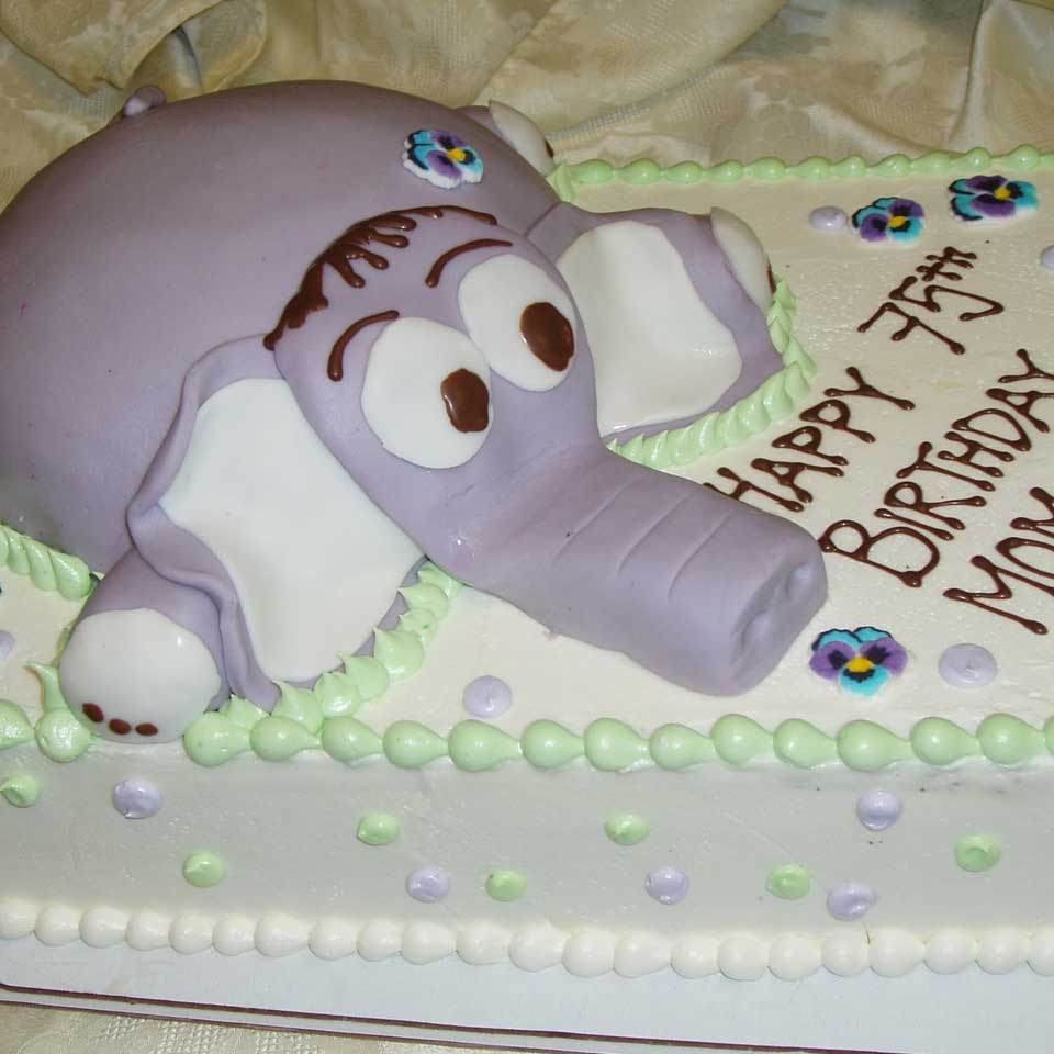 Invermere Bakery - Birthday Cake - Purple Elephant