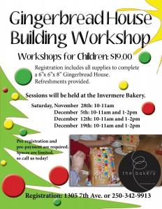 Gingerbread Workshop Poster 2015
