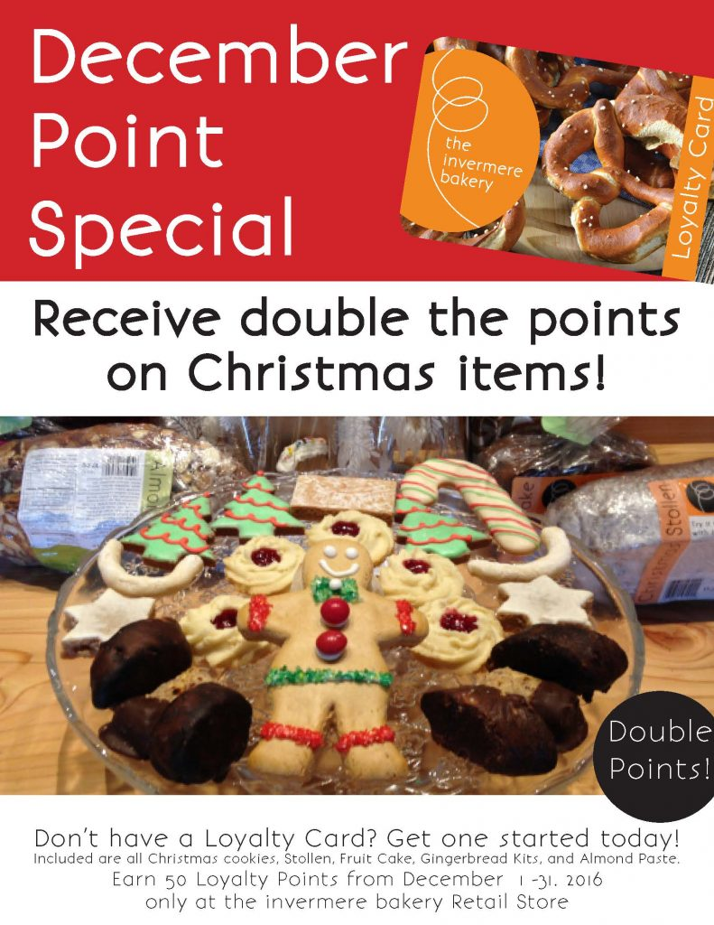The Invermere Bakery - Points in December 2016
