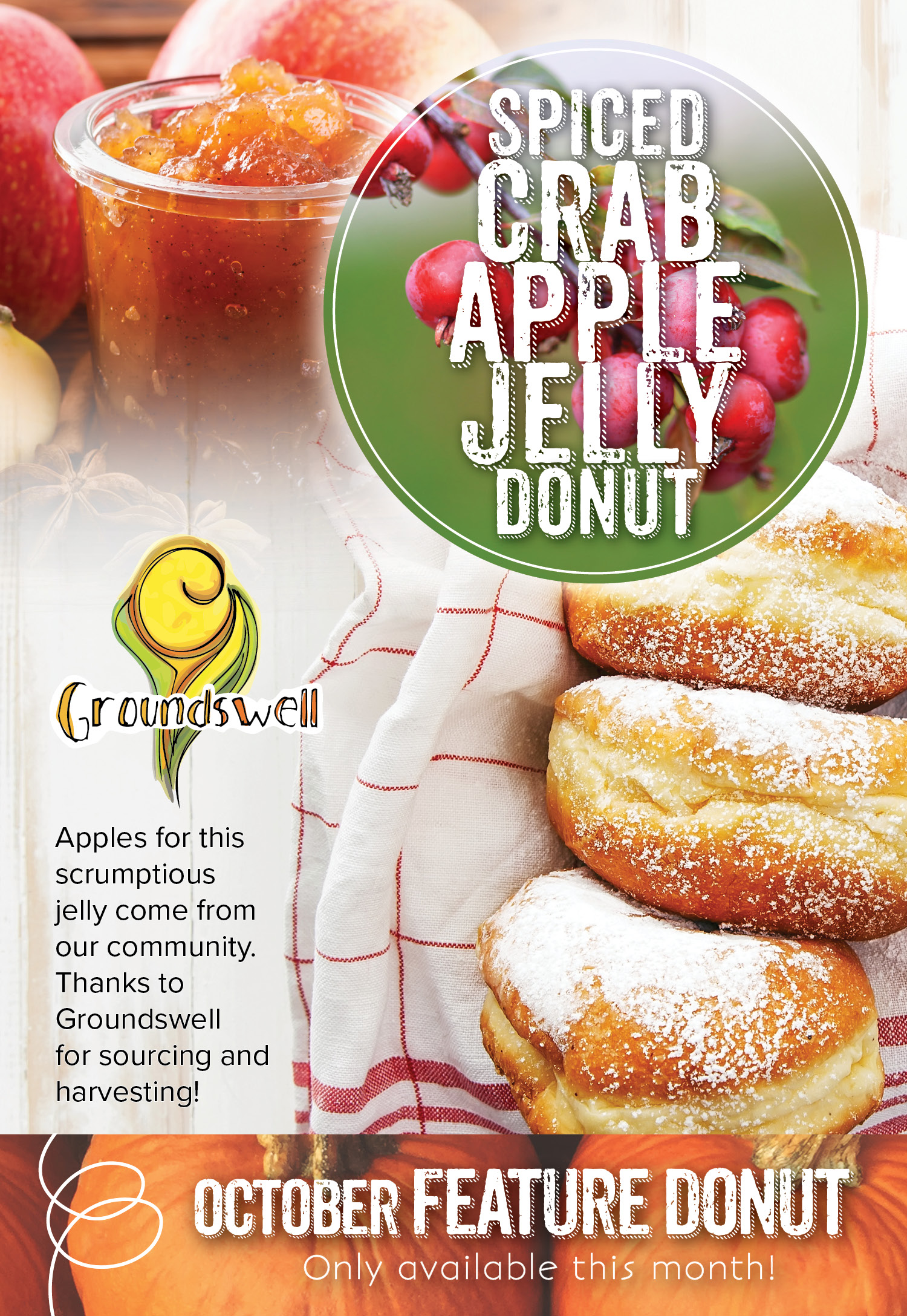 Invermere Bakery Feature : Crab Apple Jelly Donut