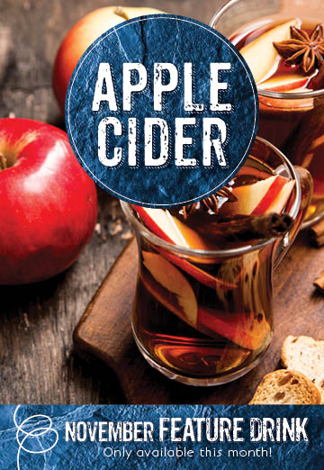 Apple cider at the Invermere Bakery this month