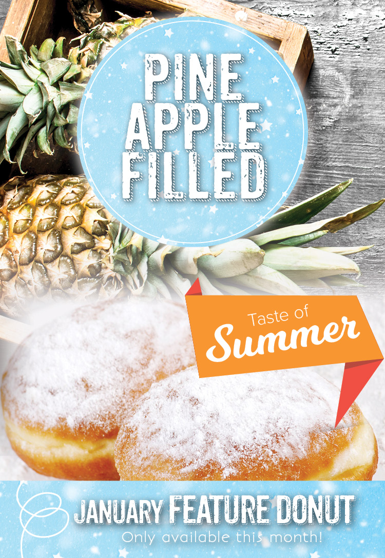 Donut feature at the Invermere Bakery : Pineapple-filled donut