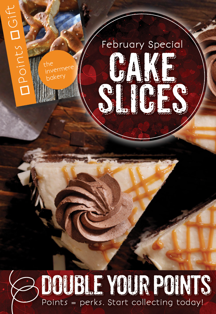 The Invermere Bakery - Cake Slices for Points