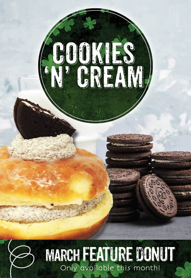 Invermere Bakery Drink Feature - Cookies 'n' Cream Donut