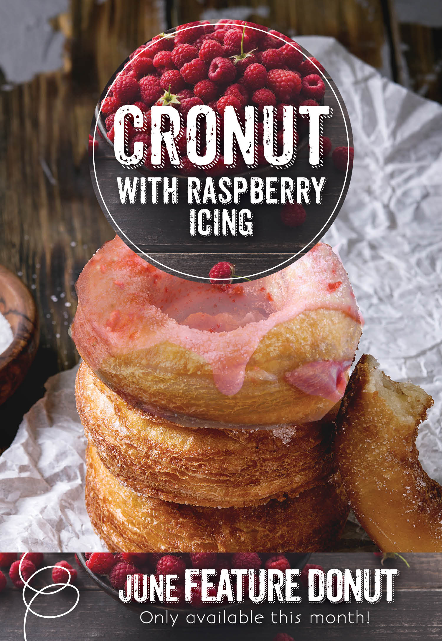 Invermere Bakery Features a Cronut with Raspberry Icing